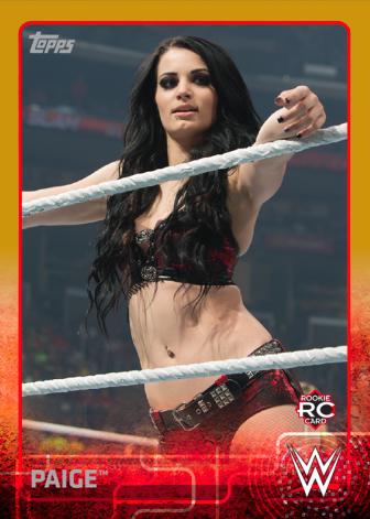 WWEWallArtPaigeGold