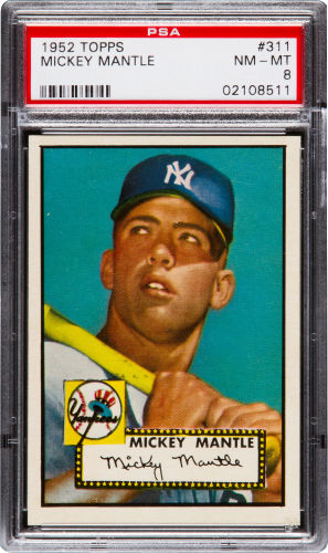 1952-Topps-Mickey-Mantle-PSA-8-Heritage