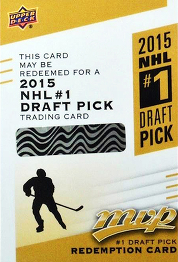 2015-16-NHL-MVP-Upper-Deck-Connor-McDavid-Rookie-Redemption-Card