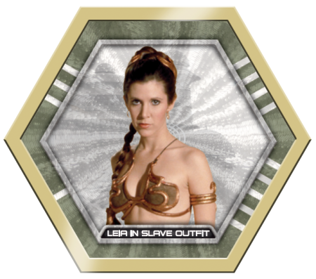 4-Topps Star Wars GalacticConnexionsLeiaGold14kfivemade