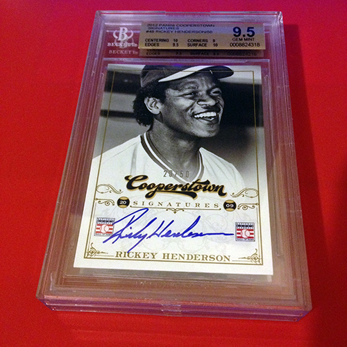 Buzz-Grading-Diary-Rickey-Henderson-Cooperstown-Autograph