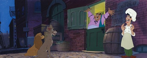 Lady-and-the-tramp-cels