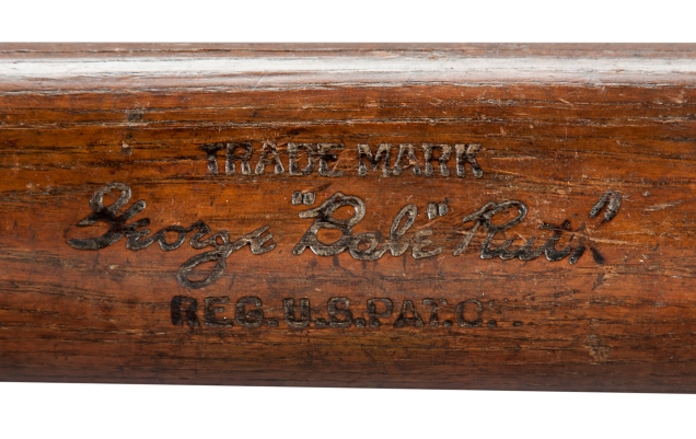 1925-1926 Babe Ruth Game Used Hillerich & Bradsby Bat (PSA/DNA GU 9) Ted Leaper Collection Current Bid: $55,000
