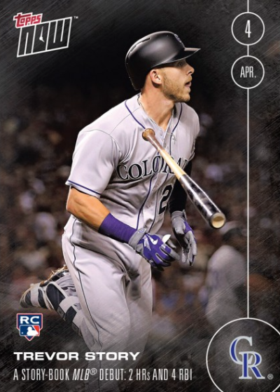 TREVOR STORY - 2016 TOPPS NOW CARD 4 (RC) (4/4/16) - PRINT RUN: 981 CARDS