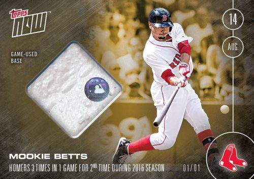 SECOND 3-HR GAME OF 2016 RELIC CARD # TO 1 - MOOKIE BETTS - TOPPS NOW, $699.99