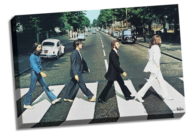 The-Beatles-Abbey-Road-24x36-Stretched-Canvas