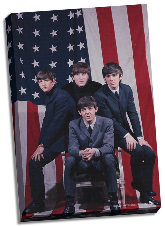 The-Beatles-US-Flag-24x26-Stretched-Canvas