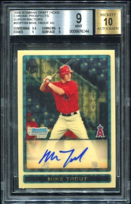 MIke-Trout-2009-Bowman-Chrome-Draft-Superfractor-Auction
