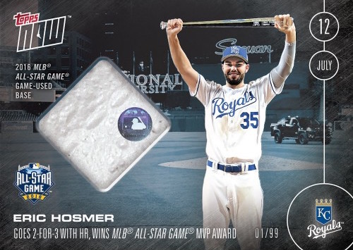 ERIC HOSMER MLB ALL-STAR GAME RELIC CARD # TO 99 - 7/12/16 TOPPS NOW CARD 247B