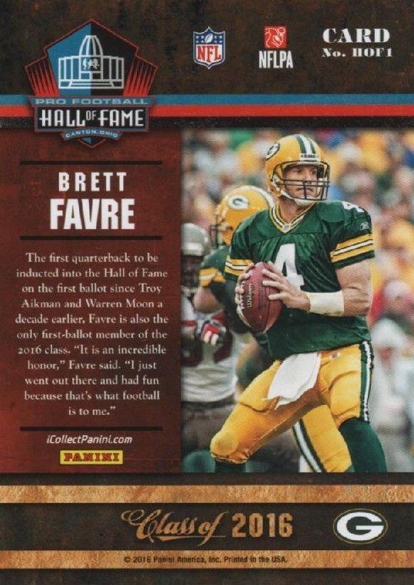 Brett Favre 2016 PANINI DONRUSS football card!!!