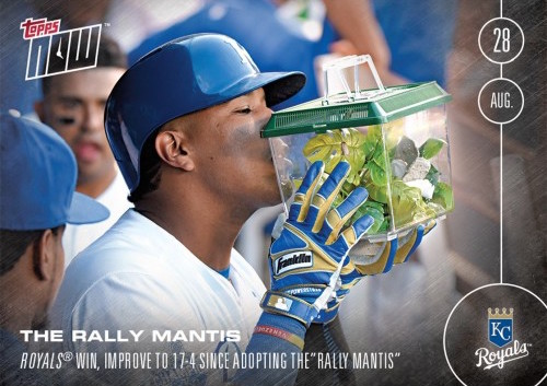 THE RALLY MANTIS - 8/28/16 TOPPS NOW CARD 403 - PRINT RUN QTY: 1,029 CARDS