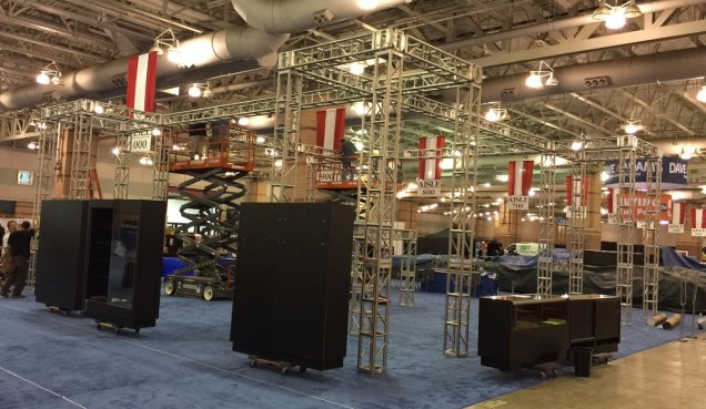 Via @paniniamerica: We are here! Set-up has begun for the @nsccshow #NSCC16