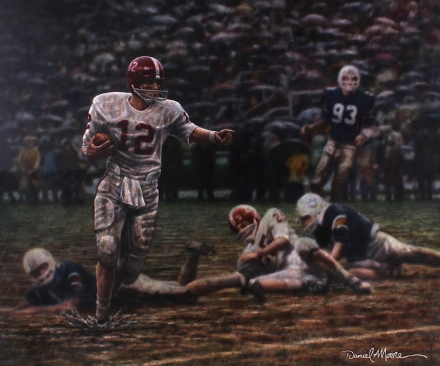 main_2-Daniel-Moore-Original-Ken-Stabler-Alabama-Run-in-the-Mud-Custom-Framed-Painting-Personally-Owned-by-Ken-Stabler-Stabler-LOA-PristineAuction.com