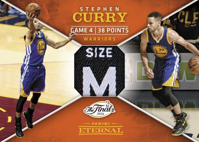 Stephen Curry NBA Finals Jersey - 2016 Panini Eternal Memorabilia Card #PE-SC1 - 1/5 - September 12 $999.99