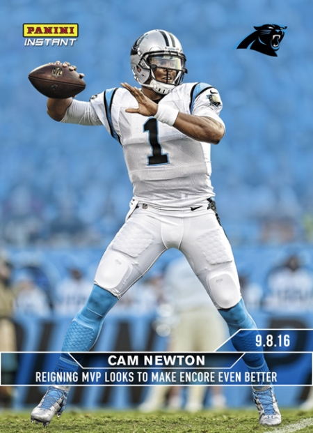 Panini launches 2016 Panini Instant NFL set with Cam Newton card + gallery bcc88689a