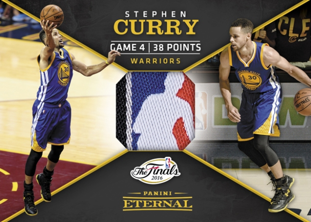 Stephen Curry NBA Finals Jersey - 2016 Panini Eternal Memorabilia Card #PE-SC1 - 1/1 – September 12 $1,499.99