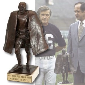 GEORGE BLANDA'S 1974 NFL MAN OF THE YEAR TROPHY