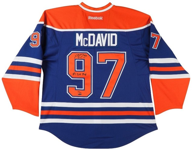 connor-mcdavid-autographed-inscribed-edmonton-oilers-blue-jersey-upper-deck-authenticated