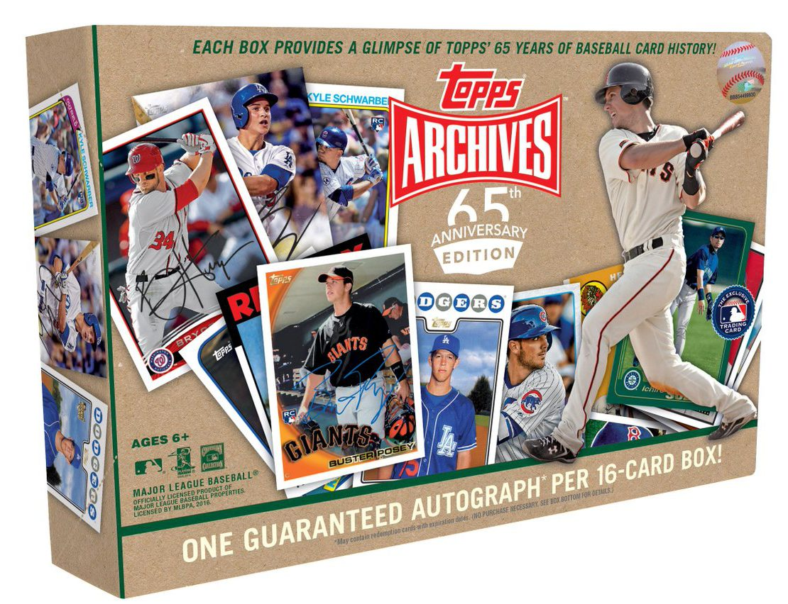Topps celebrates th anniversary again with walmart only release