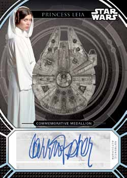 2017-topps-star-wars-40th-anniversary-auto-medallion-fisher