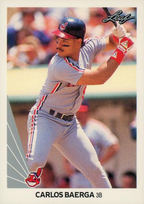 Carlos Baerga S Rookie Card And My 1990 Leaf Baseball
