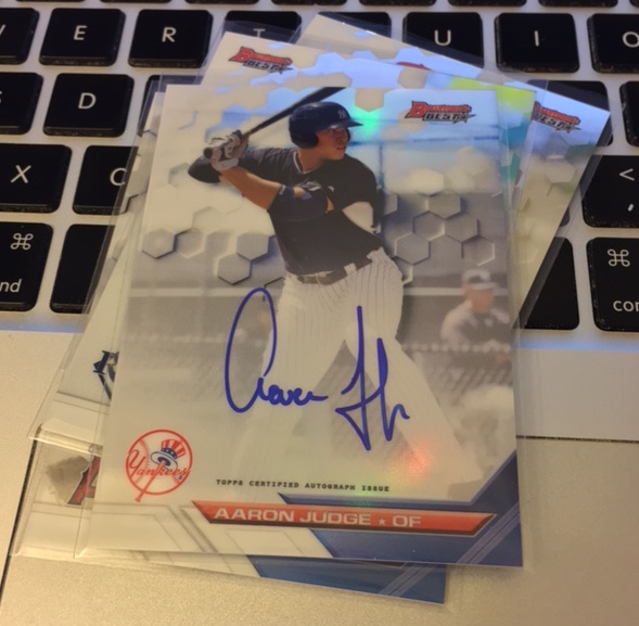 Image result for 2016 bowman best certified aaron judge card