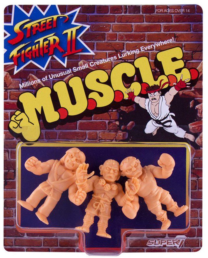 M.U.S.C.L.E Street Fighter II Bison Ryu Vega 3 Pack by Super7