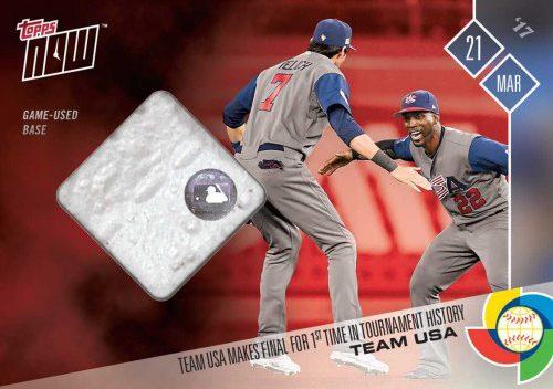 Team Usas World Baseball Classic Final Run Gets Topps Now Relics