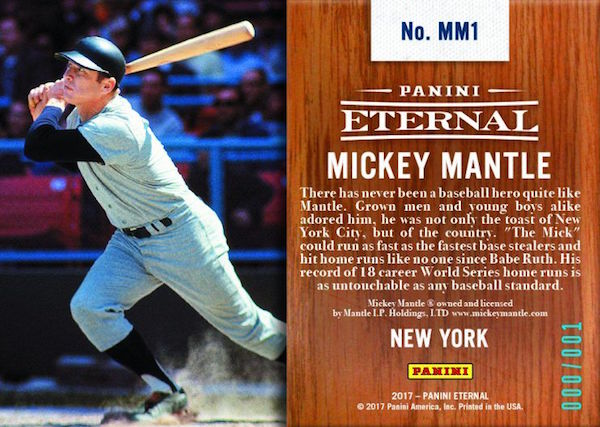 Mickey Mantle Returns To Baseball Cards With New Panini America Deal