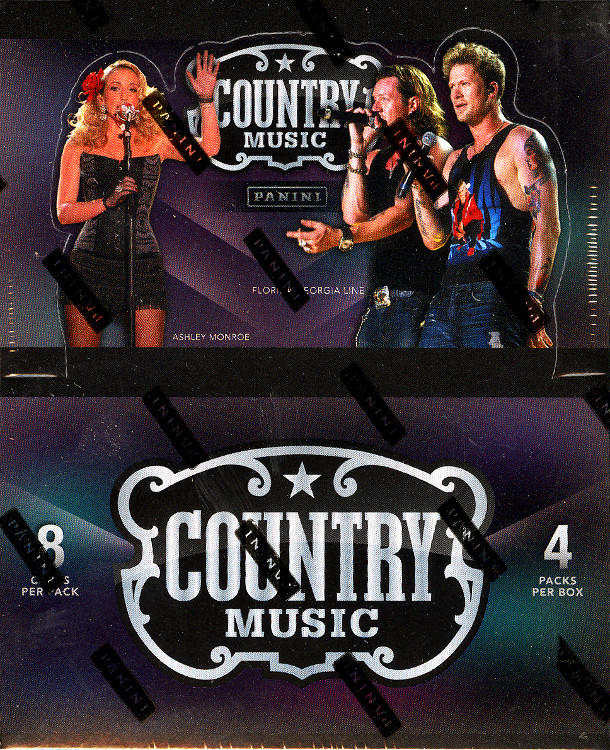 2014 Panini Country Music Trading Cards 6 Pack Blaster Box