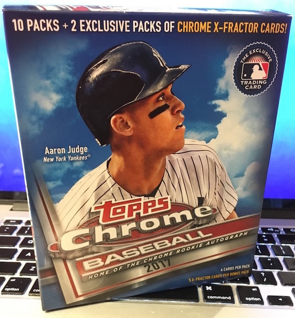 Buzz Break 2017 Topps Chrome Baseball Cards Walmart Jumbo