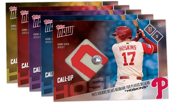 44ff15b08 Rhys Hoskins  first game-used memorabilia cards hit in new Topps Now MLB Players  Weekend set