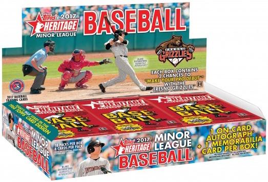 Buzz Break 2017 Topps Heritage Minor League Baseball Hobby Box