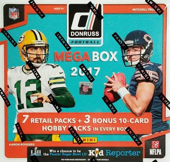 Buzz Break: 2017 Donruss Football Cards (Mega Box