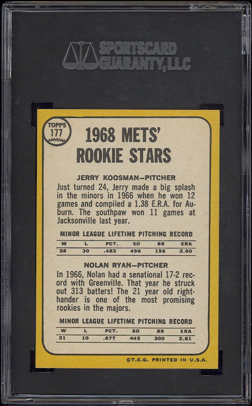 Ebay Buzz This 1968 Topps Nolan Ryan Rookie Card Is How