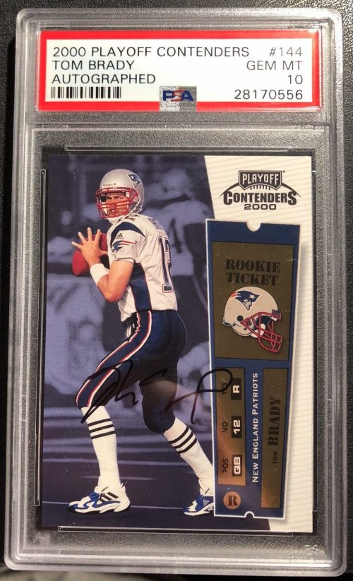 Tom Bradys 2000 Playoff Contenders Rookie Ticket Autograph
